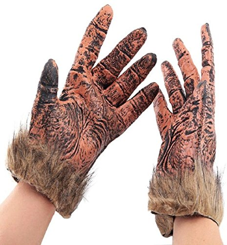 Ularma 1 pair Halloween loup Coss Play gants Latex