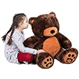 VERCART Riesen Teddy Bär Weich Plüsch Kuscheliger Teddybär Braun 3 Feet