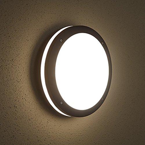 Biard Lampada da Parete per Esterni (E27, Colore Nero) - Applique Murale Rotondo - Impermeabile IP54 - Plafoniera di Design Moderno - Iluminazione Giardino