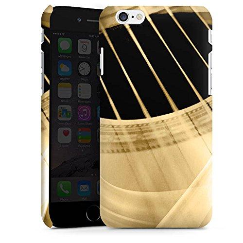 Apple iPhone 7 Silikon Hülle Case Schutzhülle Gitarre Instrument Saiten Premium Case matt