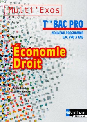 Économie - Droit - Term Bac Pro