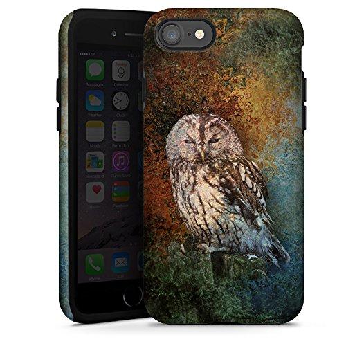 Apple iPhone X Silikon Hülle Case Schutzhülle Eule Wald Kauz Tough Case glänzend