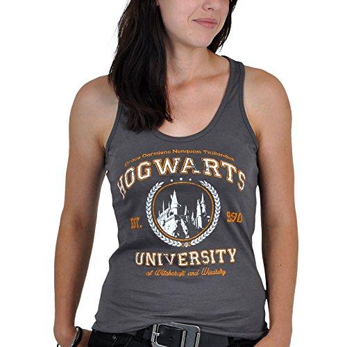 Harry Potter - Canottiera Magic University in qualità bio - Grigio - L