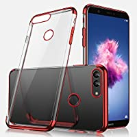 Huawei P Smart Funda, Huawei P Smart Ultra Slim Silicona Funda, Felfy Cover para Huawei P Smart Soft Silicona Case Novedad Electrochapado Shock-Absorción Ultra Slim Transparente Silicona Case Ultra Slim Soft Gel Cover TPU Case Protective Case Crystal Clear Cover Bumper Antishock Antishock Dustproof Ultra Soft Protective Bumper Cover Case for Huawei Enjoy 7S/P Smart + 1 Silver Stylus Pen + 1 Dust Plug.