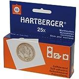Etuis numismatiques carton (50x50) autocollants, paquet de 25 [Lindner 8320 375] - pour les pièces jusqu'à Ø: 37,5 mm
