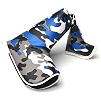 Putter 2pcs Camouflage PU Universal Thick Creative with easy Lock-in Design Golf Head Covers Fit for All Golf Brands Taylormade, Cobra, Nike Titleist, Callaway, Ping,