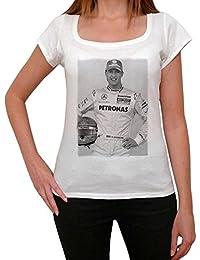 Michael Schumacher 1, tee shirt femme, imprimé célébrité,Blanc, t shirt femme,cadeau