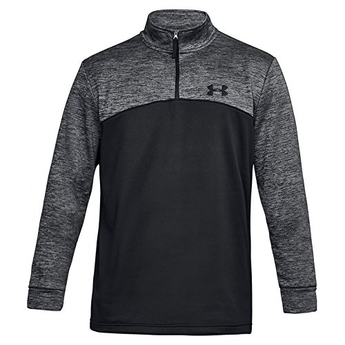 Under Armour Herren Fitness Sweatshirt Af Icon 1/4 Zip, Schwarz (002), M Fleece Half Zip Sweatshirt