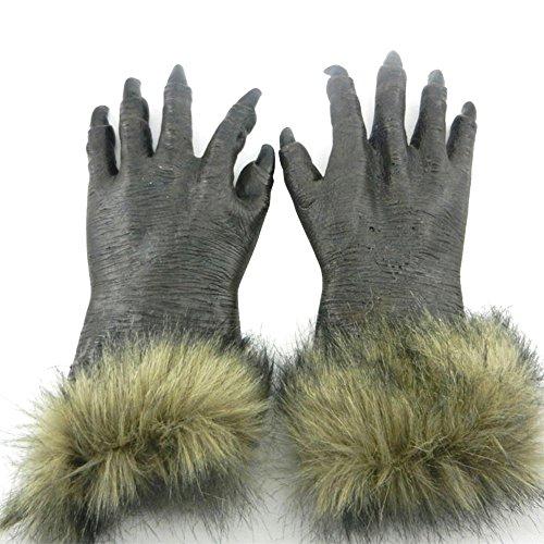 Masken für Erwachsene, WeGood Handschuh Halloween für Halloween Neuheit Halloween Kostüm Partei Cosplay Maskerade Tierkopf Gummimasken (Handschuh) (Wolf Halloween Kostüme Für Kinder)