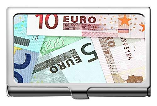 Professioneller Visitenkartenhalter, Geld-Hintergrund-Münzen-Geschäfts-Kredit-Ausweis-Kartenhalter