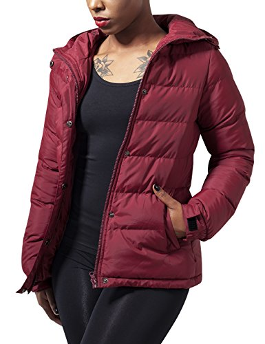 Urban Classics Ladies Bubble Jacket, Giacca Donna, Rot (Burgundy 606), 40