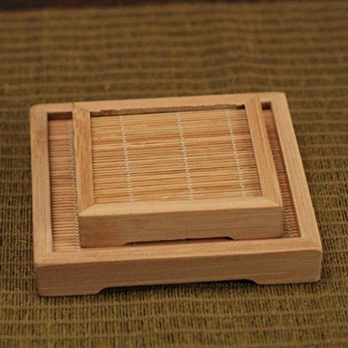 Sharplace 2pz sottobicchiere tappetino da bamboo per decorazione da tavolo