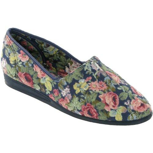 Mirak Patricia - Chaussures D'été 100% Coton - Donna Blau