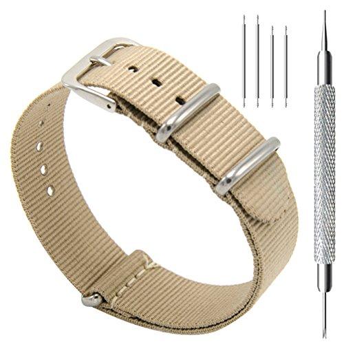CIVO Armband Uhrenarmbänder Nato Uhren-Armband Premium Ballistic Nylon Uhrenarmband Ersatzarmband Edelstahl Wölbung 18mm 20mm 22mm mit Top Frühlings Stab Werkzeug und 4 Spring...