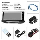 GPS-Navigation, HD 1080P 7 Zoll IPS Touchscreen Auto DVR Rückspiegel Videorekorder Kamera Dash Cam Bluetooth Europa Karte