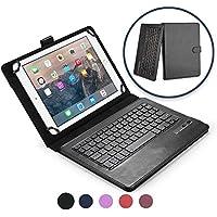 Funda con teclado Samsung Galaxy Tab 2 10.1 COOPER INFINITE EXECUTIVE Funda tipo carpeta 2 en 1, cuero, teclado Bluetooth inalámbrico, soporte + GT-P5100 5110 GT-I915 T779 I497 P500 CDMA (Negro)