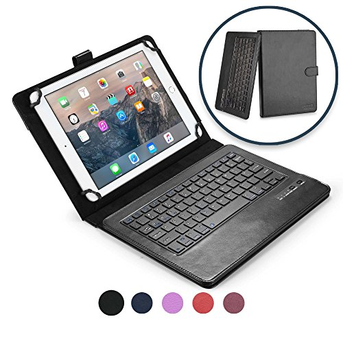 Asus Transformer Pad TF103C TF701T TF303CL Custodia con Tastiera, COOPER INFINITE EXECUTIVE Custodia a libro Per Il Trasporto di Tablet con Tastiera Bluetooth QWERTY Wireless Removibile con supporto (Nero)