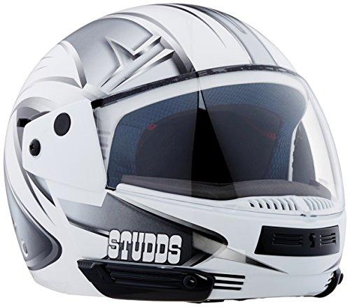 Studds Full Face Helmet Ninja D5 (White N4, M)