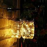 Rocky Store LED Hanging Lantern -Mason Jar Decor Solar Mason Jar Lid Insert for Glass Mason Jars and Garden Decor Solar Lights (1pc Jar)