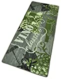 HANSE Home 102083 Teppichläufer, Polyamid, grau/grün, 67 x 180 x 0.8 cm