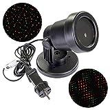 LED Projektor mit wechselnden Funktionen rot/grün Gartenstrahler Spotlicht Trafo Außen Weihnachtsbeleuchtung Effektlicht Partylicht Außenbeleuchtung