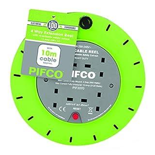 PIFCO PIF2070 4-Gang Cassette Reel, Black, 10 m