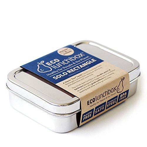 Image of ECOlunchbox Solo Rectangle, große, rechteckige Brotdose aus Edelstahl | Lunchbox | Bento Box