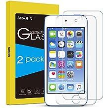 [2-Pack] iPod Touch 6 Protector de Pantalla,SPARIN® Cristal Templado Protector de Pantalla para iPod Touch 5/6,Vidrio Templado con [Alta Dureza][Alta Transparencia] [Garantía de por vida]