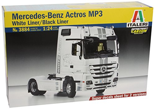 Italeri 3884S - Mercedes Benz Actros Mp3 Black/White Liner