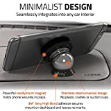 Best Car Phone Holder 100% Universal Magnetic Dashboard Mount Kit by Wuteku® | For All Vehicles, Phones & Tablets | iPhone 7 6 6S SE 5 5S 5C Galaxy S7 S6 Edge Note 5 4 LG G5 G4 Nexus 5x 6P | 2 UltraSlim Discs and Large Plate Included | Top Rated by Uber and Lyft Drivers