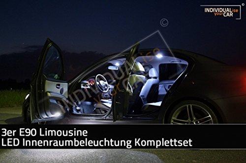 LED Innenraumbeleuchtung SET für 3er E90 Limousine - Cool-White mit Panoramadach