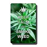 Kühlschrankmagnet Sprüche Cannabis Weed Spruch Keep Calm Humor lustig