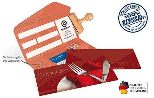 10 Gutscheinkarten - Geschenkgutscheine für Gastronomie, Restaurant, Gaststätten - Gutschein...