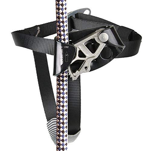 ZHLZH Ascender Riser für Klettern Bergsteigen/Fußsteigklemme/Kletterseile, Rechter Fuß Ascender Rope Grab Riser für 8-13mm (0.314-0.51 Inches) Seil Zum Klettern,Black-Left -