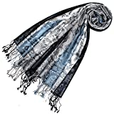Lorenzo Cana Luxus Pashmina Schal Schaltuch jacquard gewebt 100% Seide Paisley Muster Seidenschal Seidentuch Seidenpashmina mehrfarbig 7805277