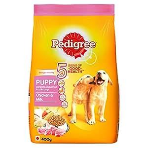 Pedigree Puppy Dog Food Chicken & Milk, 400 g (Small Pack)