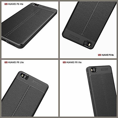 P10 Weich Hülle,EVERGREENBUYING flexibel Silikon Cover TPU VTR-AL00 Tasche Ultra-dünne Handyhülle Rückschale Case für HUAWEI P10 (5.1 inch) Azurblau Rot