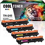 Cool Toner 4 Pack Compatible TN 245 TN-245 TN245 TN-241 TN241 TN-241BK TN241BK...
