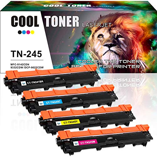 mpatibel für TN241BK TN-241 TN-245 Toner Brother HL 3142CW HL-3152CDW HL-3140CW MFC-9140CDN MFC-9330CDW MFC-9340CDW HL-3150CDW HL-3170CDW HL-3172CDW MFC-9130CW DCP-9020CDW Drucker ()