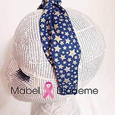 528119314 Mabel Diademe diadema turbante niña mujer azul estrellas en dorado colegio.