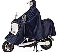Mens Womens Rain Poncho Mac, Progressive Extra Large Lengthen Universal Mobility Scooter Motorcycling Rain Cape Jackt Cover - Full Protection with Visor, Safe Clear Panel, Reflective Tap