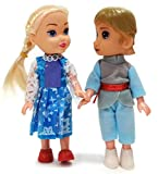 #8: Cute Baby Doll Couple Doll with Head, Hand & Leg Movement – 15.5 cm, Lovely Couple Baby Doll for Kids Decoration Non-Toxic Baby Boy Girl Figure Toy, Toddler Prince Princess Doll Couple Set Love Gift