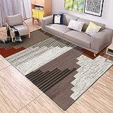 GCC Wohnzimmerteppich Modernen Teppich Designer Teppich Moderne Geometrische Streifenmuster Teppich Unschlagbaren Deal,Brown,160 * 230Cm