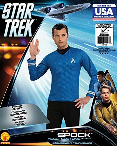 Star Trek - Captain James T. Kirk Movie Deluxe Shirt, Sci-Fi Kostümteil mit Emblem - S Schwarz