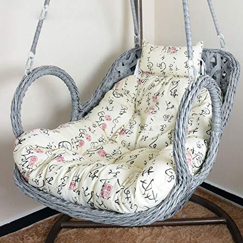 DULPLAY Hängesessel Swing,Für Indoor Outdoor Home Terrasse Deck Garten, Lesen Freizeit Anti-Rutsch Seat Dämpfung-I 100x85cm(39x33inch)