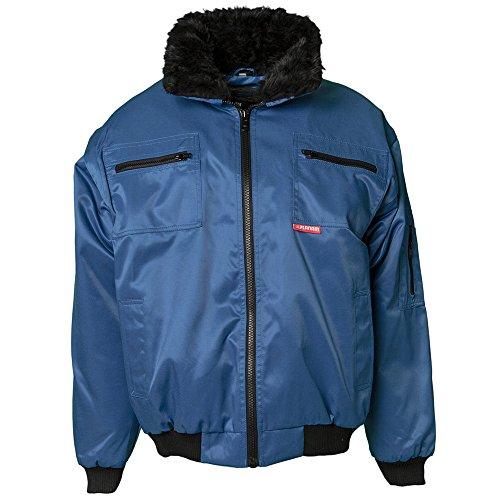 Planam 358044Gletscher Giubbotto Comfort Nero, Blu, 362044