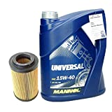 Motoröl 15W40 - 5l 15W-40 Universal + Ölfilter Motorölfilter