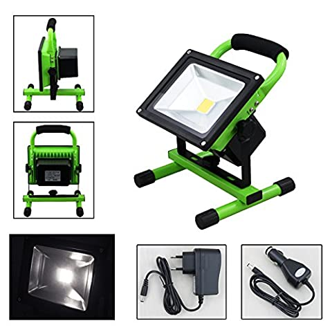 VINGO® 30W Blanc éclairage de sécurité Projecteur LED Portable Pour Camping, Garage, Terrasse, Jardin, Abri etc