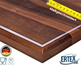 Maßanfertigung Exakter Schnitt Tischfolie PVC transparent hochglanz Tischdecke Schutzfolie Folie 2,5 mm (95 x 180 cm)