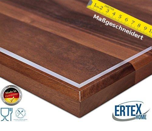 Maßanfertigung Exakter Schnitt Tischfolie PVC transparent hochglanz Tischdecke Schutzfolie Folie 2,5 mm (80 x 140 cm)